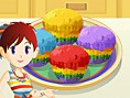 Colorful cakes with Sara