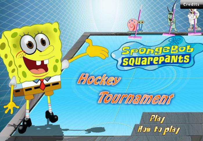 Ice Hockey Game: Sponge Bob